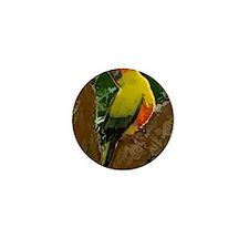 sunconure_forest_print Mini Button