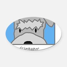 generic_schnauzer Oval Car Magnet