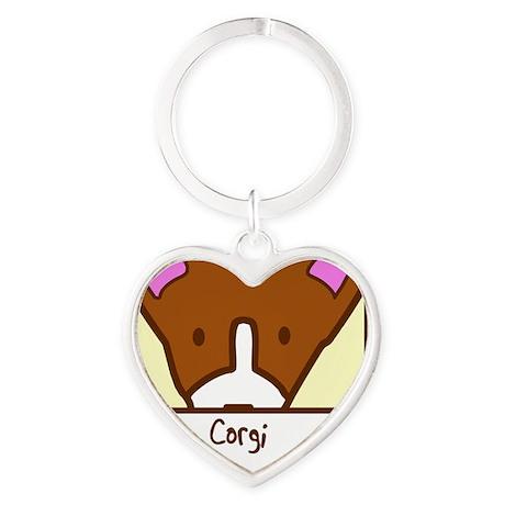 generic_corgi Heart Keychain