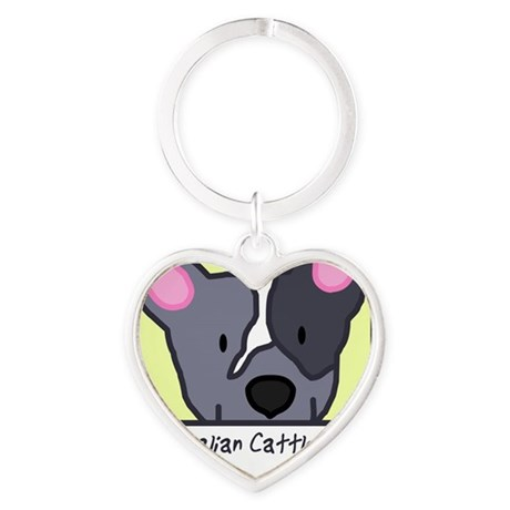 generic_cattledogblue Heart Keychain
