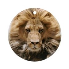 Lion Head Ornament (Round)