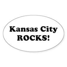 Kansas City Rocks! Oval Decal