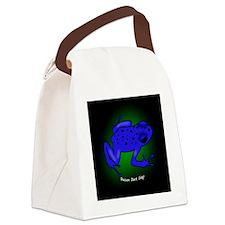poisondartfrog_ornament_blue Canvas Lunch Bag