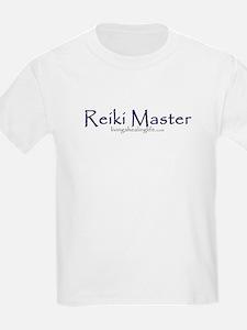 Reiki Master, purple Kids T-Shirt
