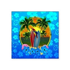 Island Sunset Surfer Honu Sticker