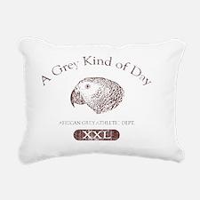 greykindaday_red Rectangular Canvas Pillow