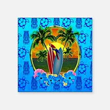 Island Sunset Surfer Tiki Sticker