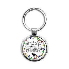 ds_flatcoatedretriever Round Keychain