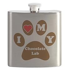 I Heart My Chocolate Lab Flask