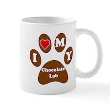 I Heart My Chocolate Lab Mug
