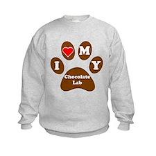 I Heart My Chocolate Lab Sweatshirt