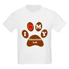 I Heart My Chocolate Lab T-Shirt