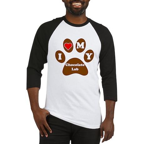 I Heart My Chocolate Lab Baseball Jersey
