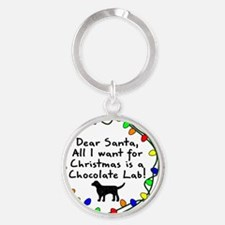 ds_chocolatelab Round Keychain