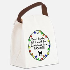 ds_basenji Canvas Lunch Bag