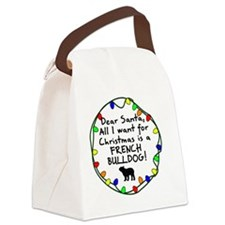 ds_frenchbulldog Canvas Lunch Bag