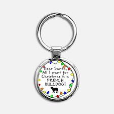 ds_frenchbulldog Round Keychain