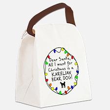 ds_karelianbeardog Canvas Lunch Bag