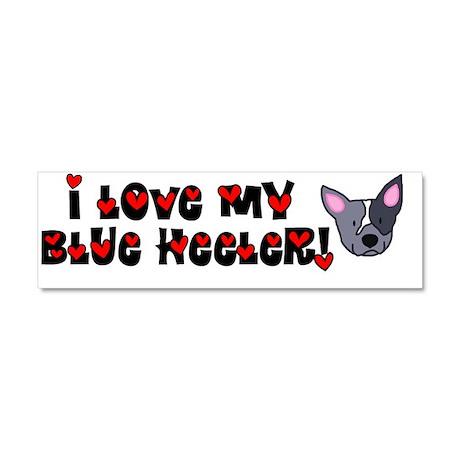 generic_blueheeler_bumper Car Magnet 10 x 3