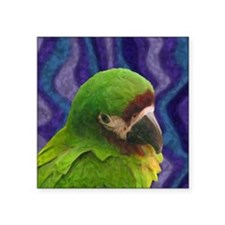 "severemacaw_oilornament Square Sticker 3"" x 3"""