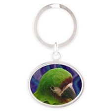 severemacaw_oilornament Oval Keychain