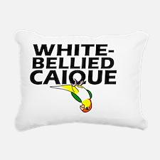 whitebelliedcaique Rectangular Canvas Pillow
