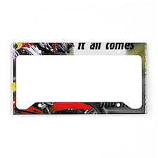 onemoment_white License Plate Holder