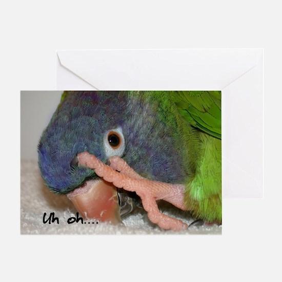 bluecrown_uhohcards Greeting Card