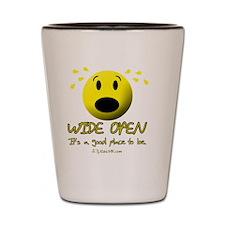 wideopen_black Shot Glass