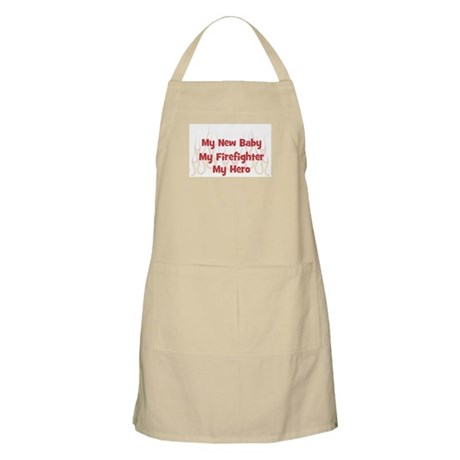 My New Baby My Firefighter BBQ Apron