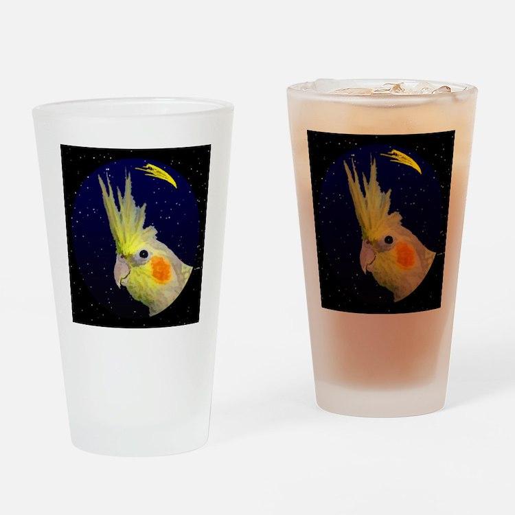 christmasnight_cp_cockatiel Drinking Glass