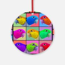 warhol_wbcaique_mousepad Round Ornament