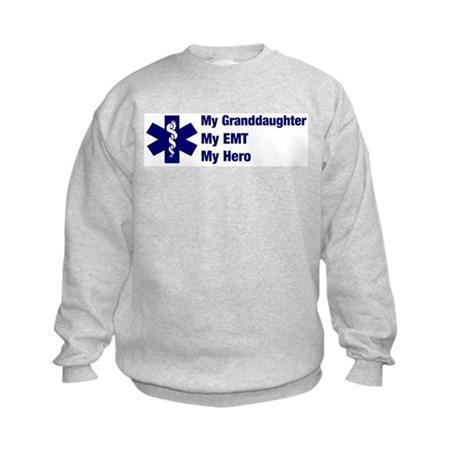 My Granddaughter My EMT Kids Sweatshirt