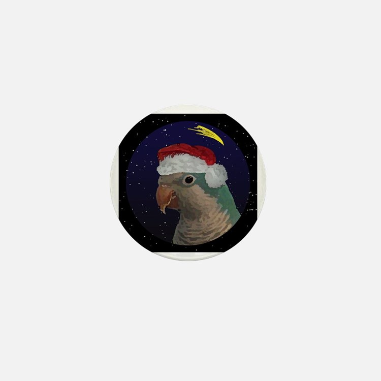 christmasnight_quaker_blue Mini Button