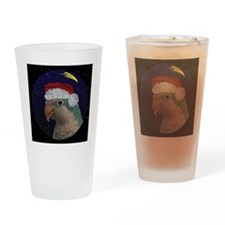 christmasnight_quaker_blue Drinking Glass