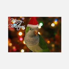 quaker_santa_card Rectangle Magnet