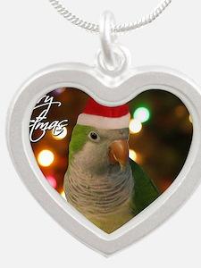 quaker_santa_card Silver Heart Necklace