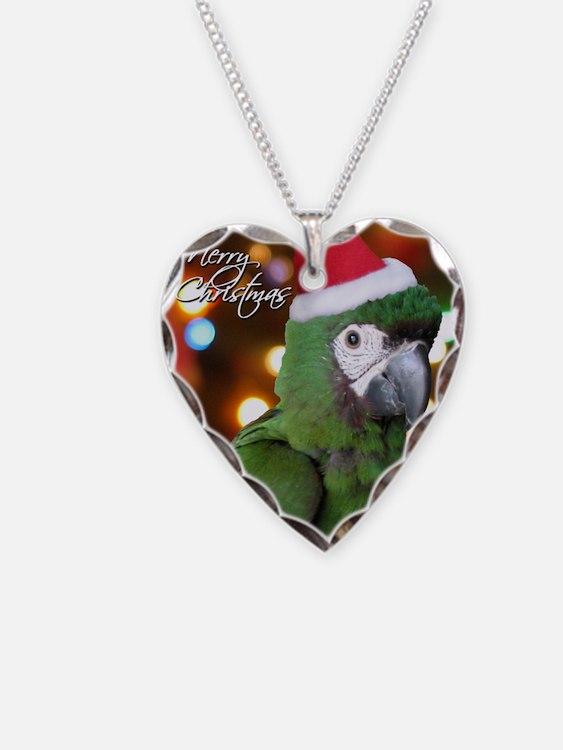 severemacaw_santa_card Necklace
