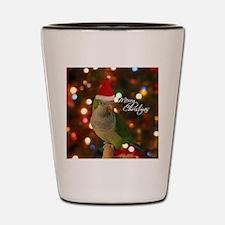 quaker_santa_ornament Shot Glass