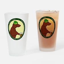 irish_setter_lager_black Drinking Glass