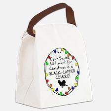 dearsanta_blackcapconure Canvas Lunch Bag