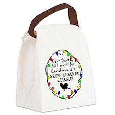 dearsanta_greencheekconure Canvas Lunch Bag