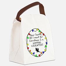 dearsanta_goffinscockatoo Canvas Lunch Bag