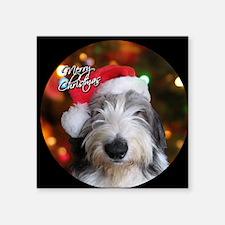 "roofus_santa_ornament Square Sticker 3"" x 3"""