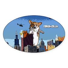 corgizilla_card Decal