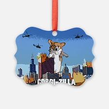 corgizilla Ornament