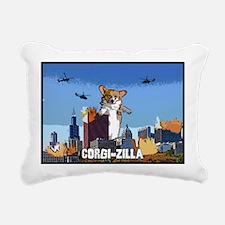 corgizilla Rectangular Canvas Pillow