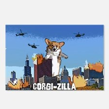 corgizilla Postcards (Package of 8)