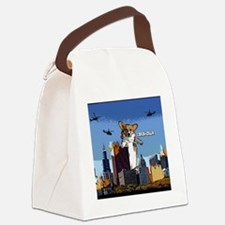 corgizilla_ornament Canvas Lunch Bag