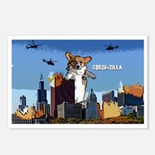 corgizilla_oval Postcards (Package of 8)